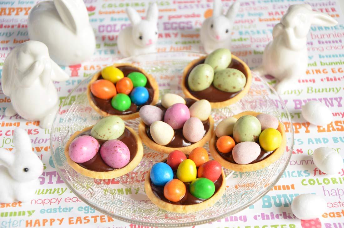 mini tartelettes nids de pâques