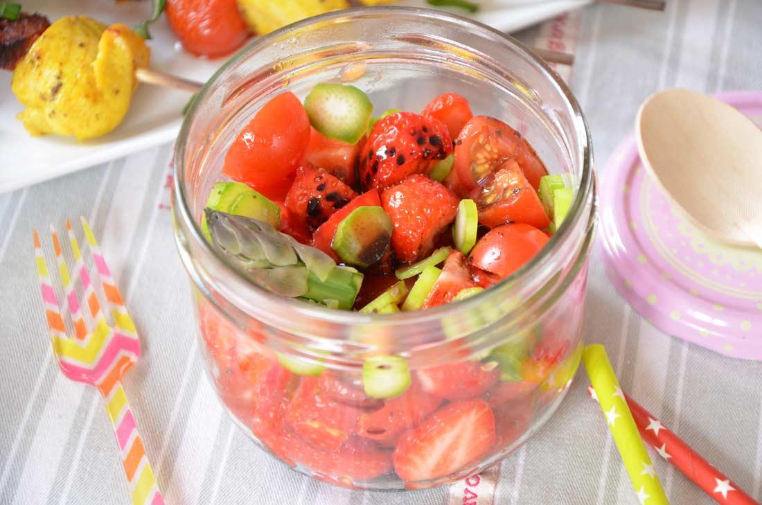 tartare tomates cerise fraises et asperges