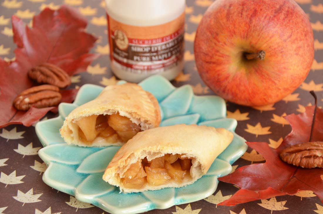 chaussons pommes noix de pécan et sirop d'érable
