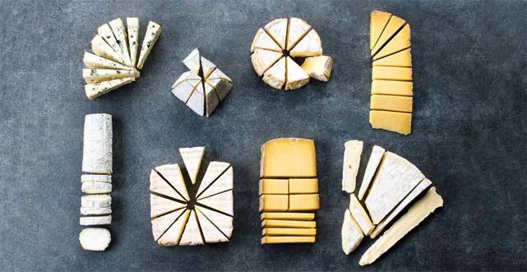 découpes de fromages