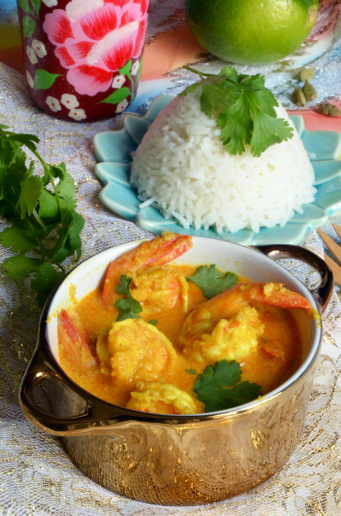 curry de gambas indien