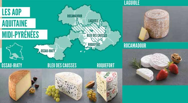 fromages Aop Aquitaine et Midi Pyrennées