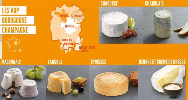 fromages AOP de Bourgogne