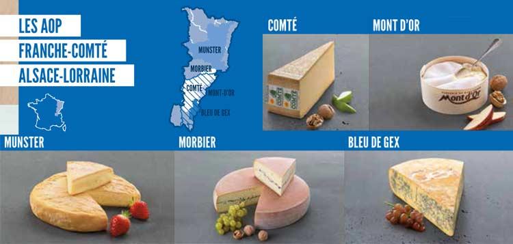 Fromages AOP Franche-comté