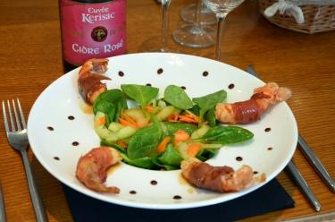 langoustines au cidre rosé Kerisac