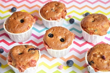 muffins myrtilles pralines roses
