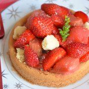 sablé breton rhubarbe et fraise