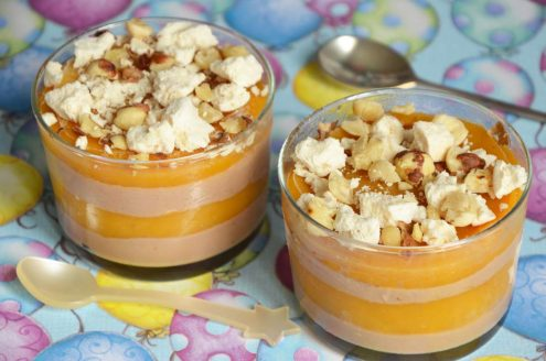 verrines glacées chocolat mangue