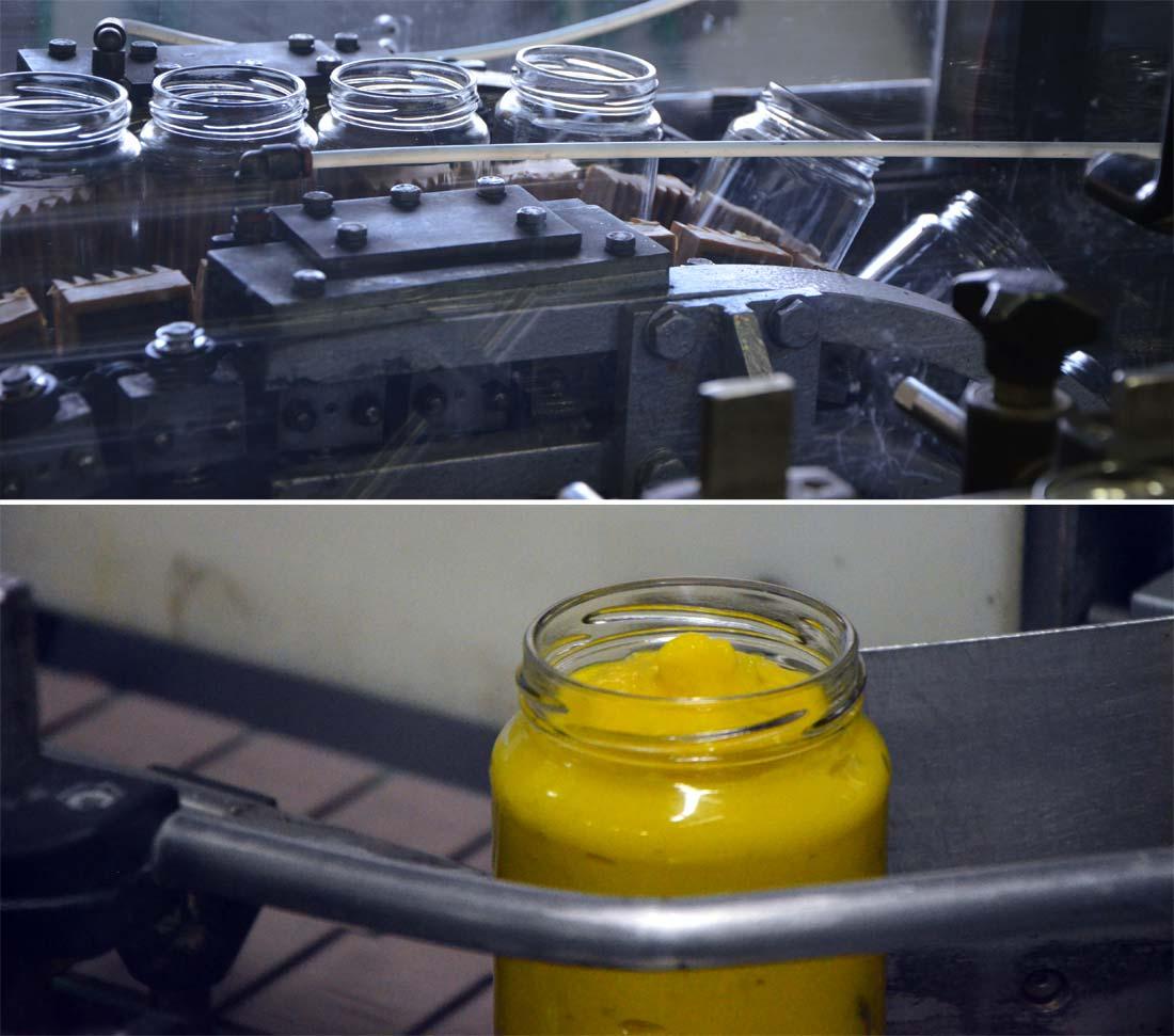 mise en conserve de la moutarde