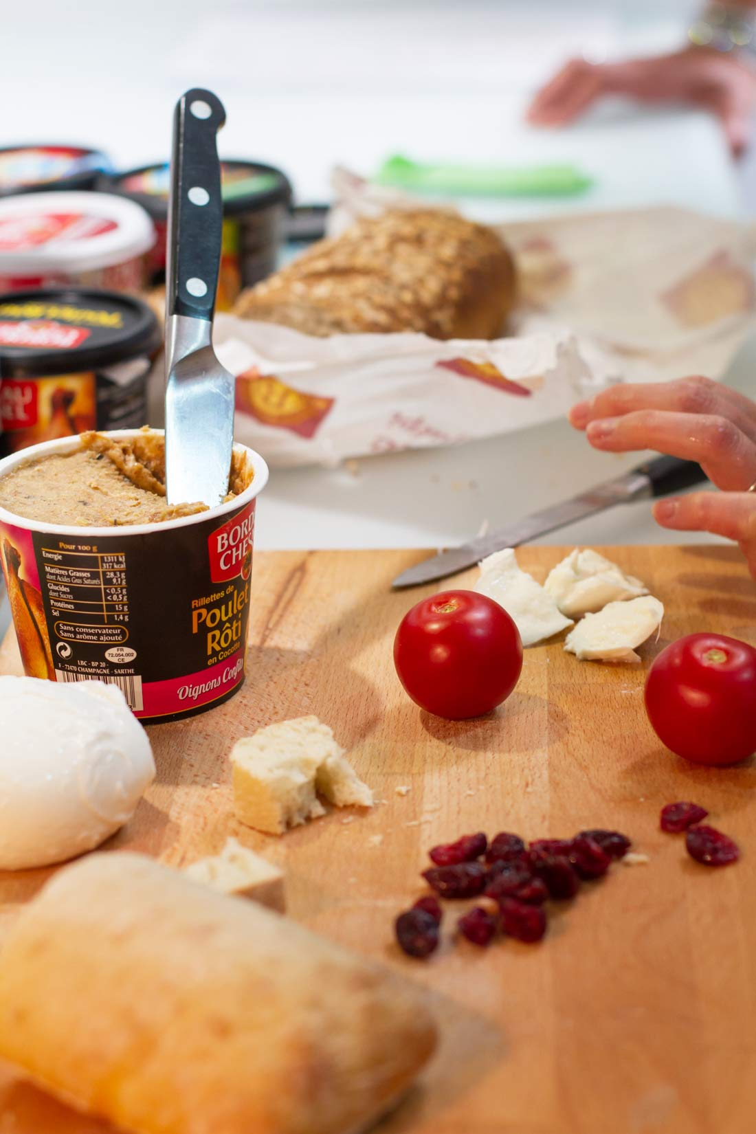 ingrédients recette Tartines de rillettes méditerranéennes Bordeau Chesnel