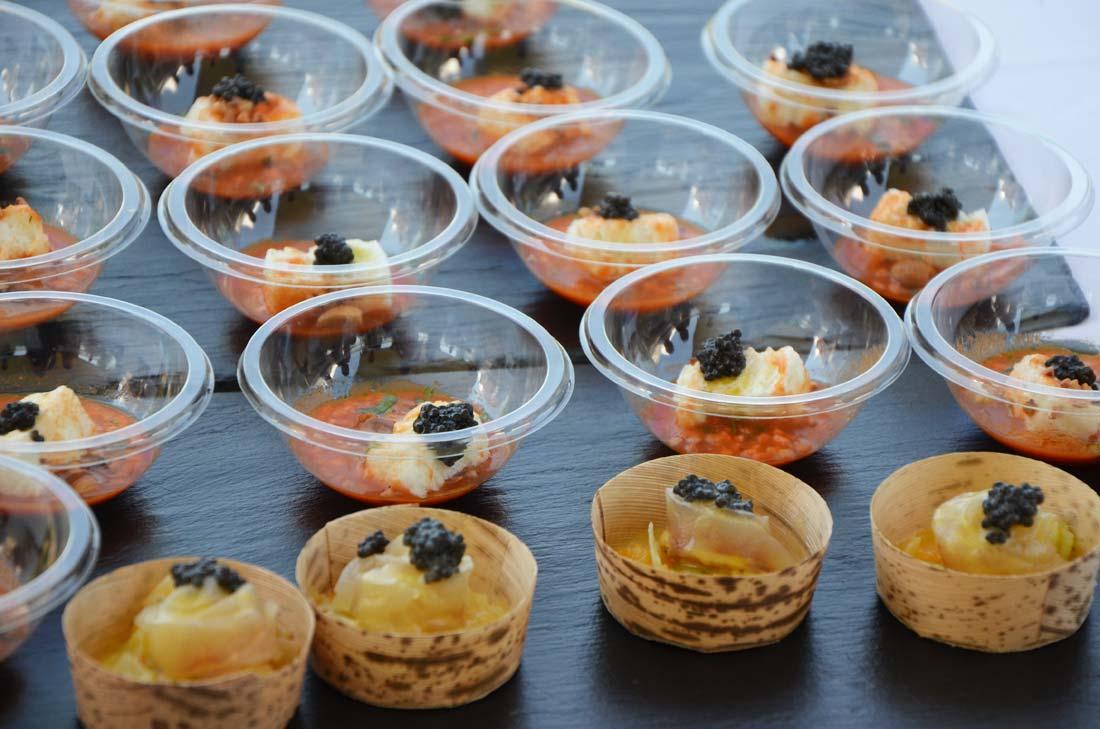 réalisations de Didier Casaguana pour le caviar de Neuvic