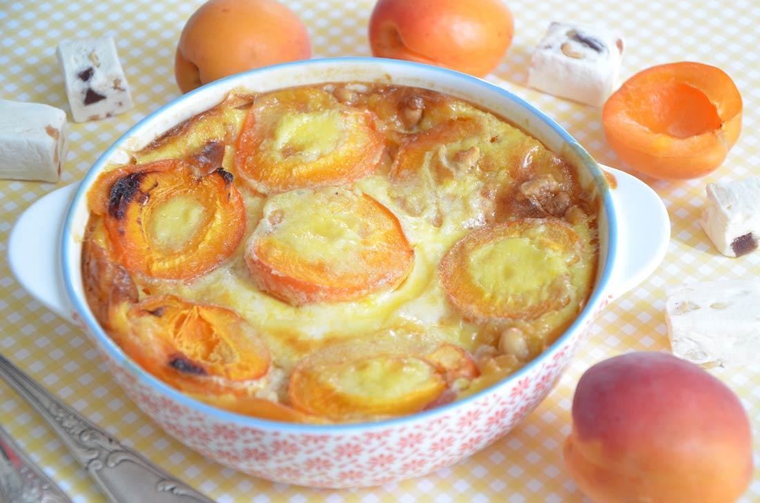 clafoutis abricots nougat