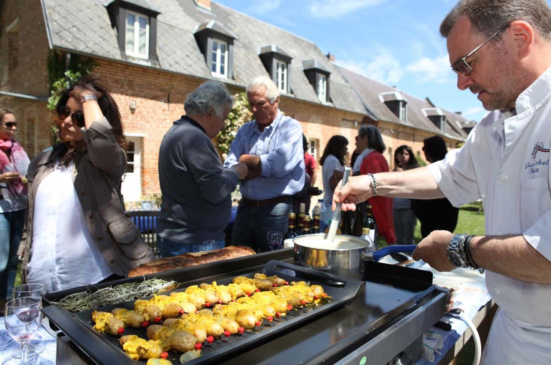 Jean-Michel Descloux en cuisine