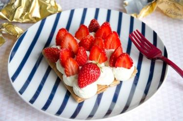 tarte crêpes dentelle fraises Nathalie Beauvais