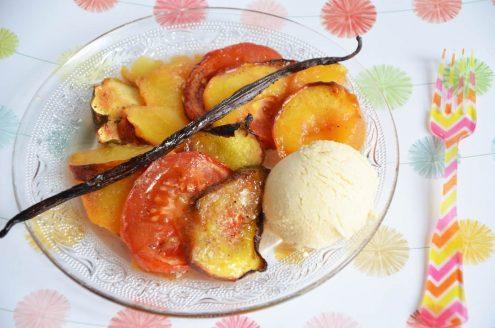 tian de fruits du soleil à la vanille