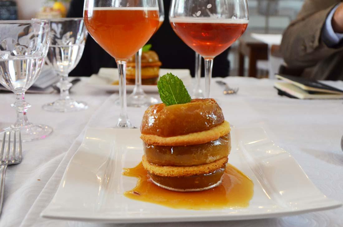 dessert aux pommes clos du Pétillon