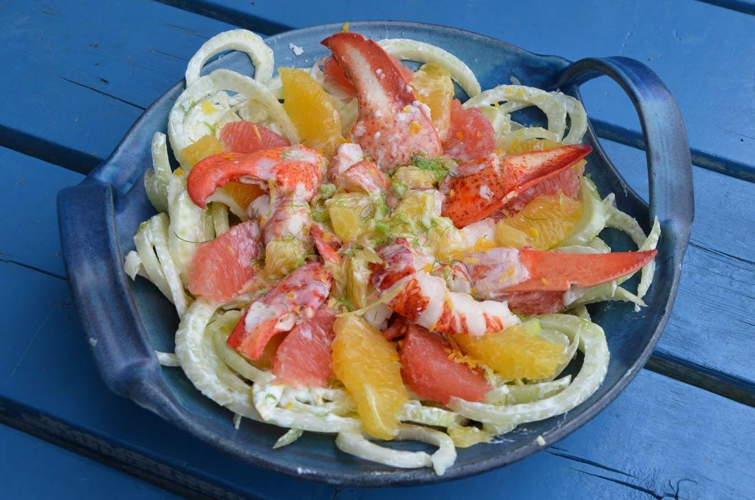 salade de homard et d'agrumes