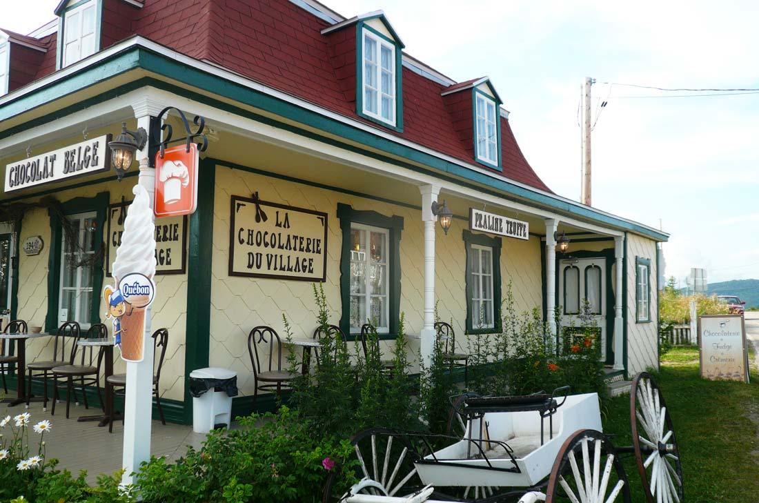 chocolaterie du village des Éboulements près de Baie Saint Paul