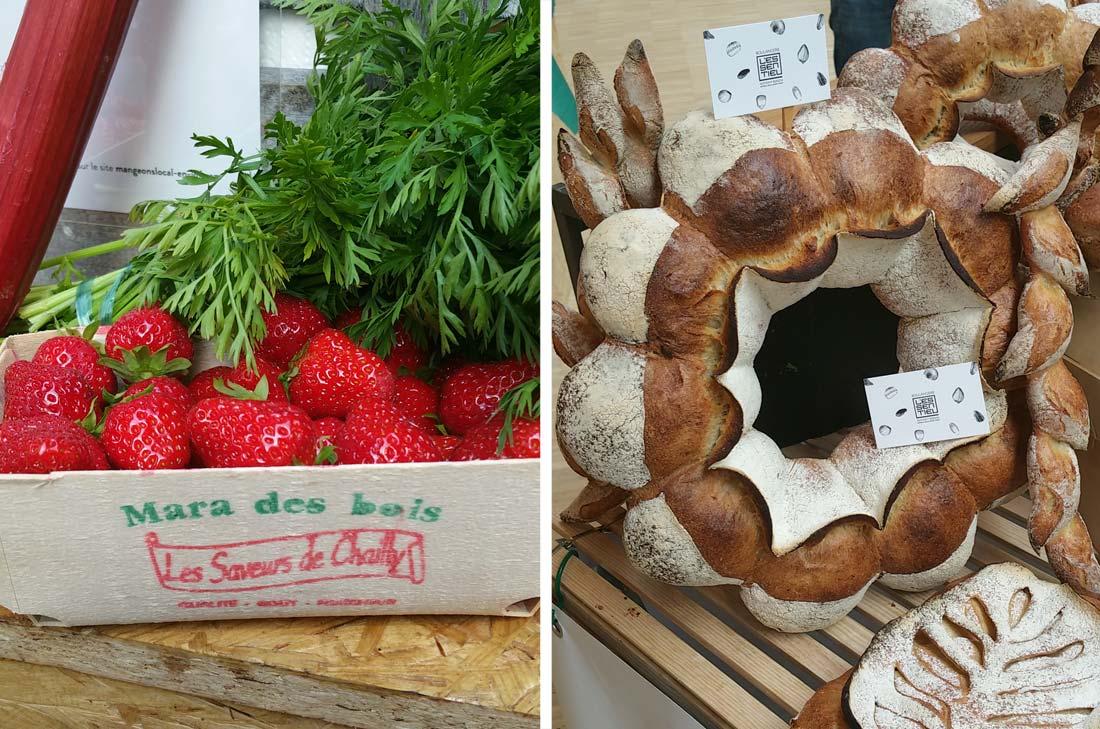 fruits et pain d'ile de France