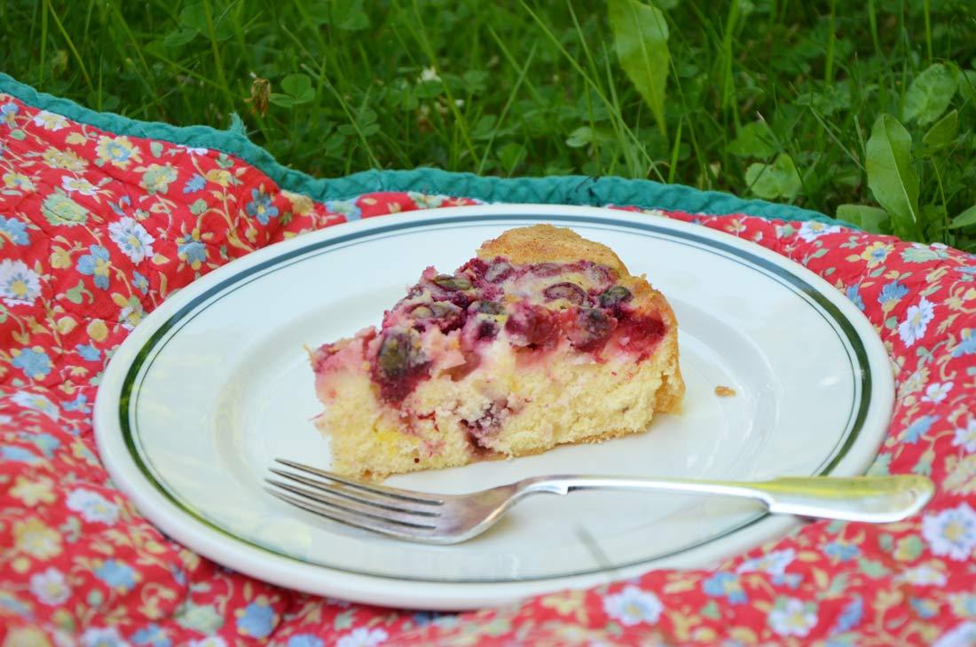 gâteau aux canneberges de Nicolas