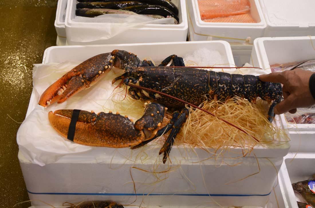 homard en vente à Rungis