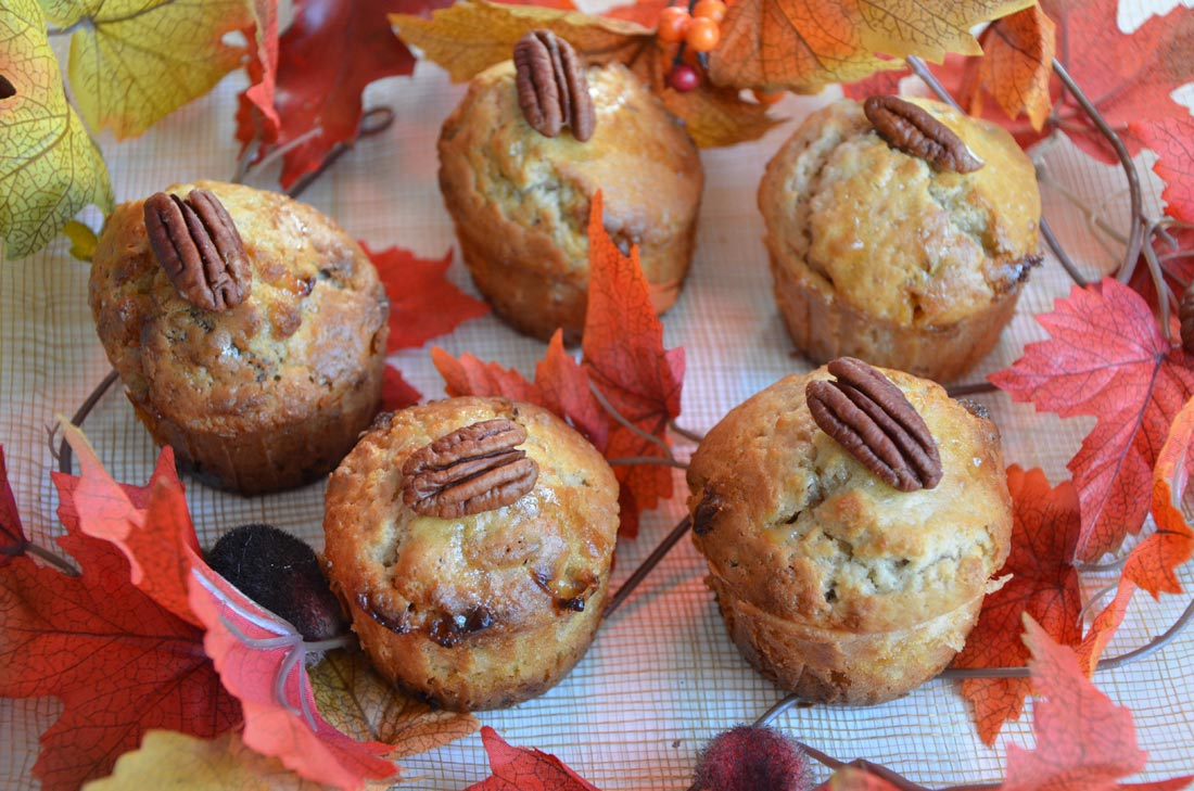 Muffins sirop d'érable chocolat blanc noix de pécan