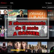 2 abonnements à Netflix à gagner