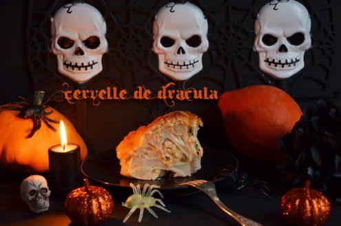 chou fleur en brioche ou cervelle de Dracula