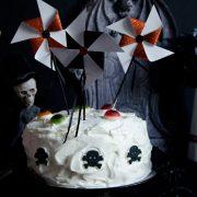 gâteau d'halloween aux myrtilles