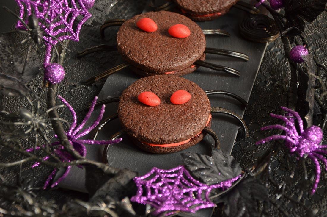 cookies araignées chocolat Halloween