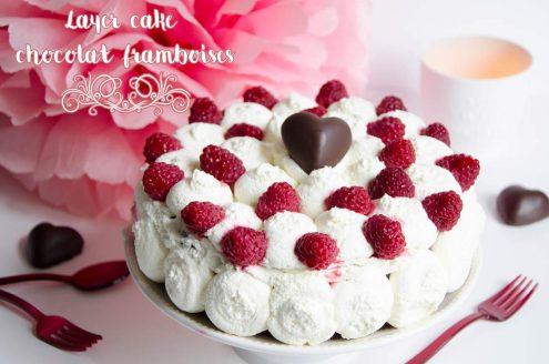 layer cake chocolat framboises Picard Hacker