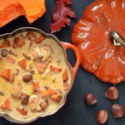 blanquette de dinde potiron et marrons