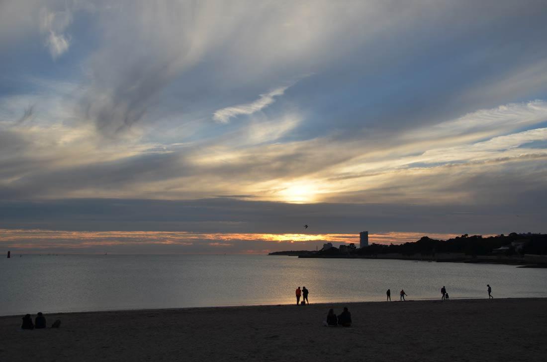 coucher de soleil sur La Rochelle
