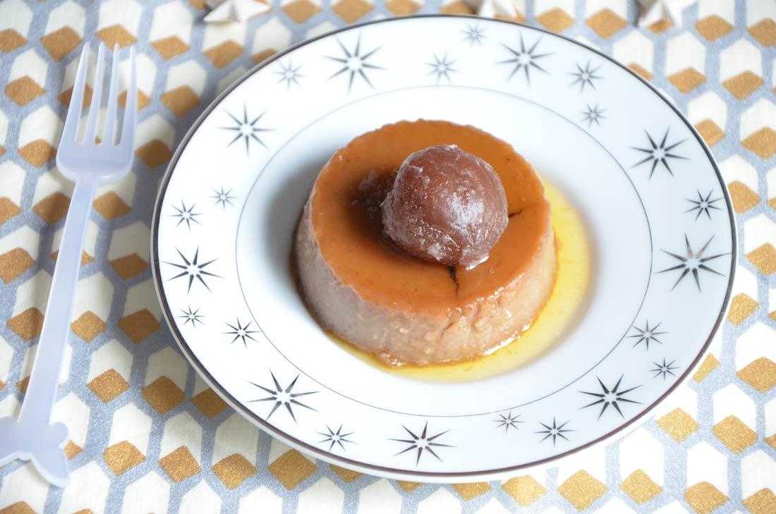 crème renversée aux marrons