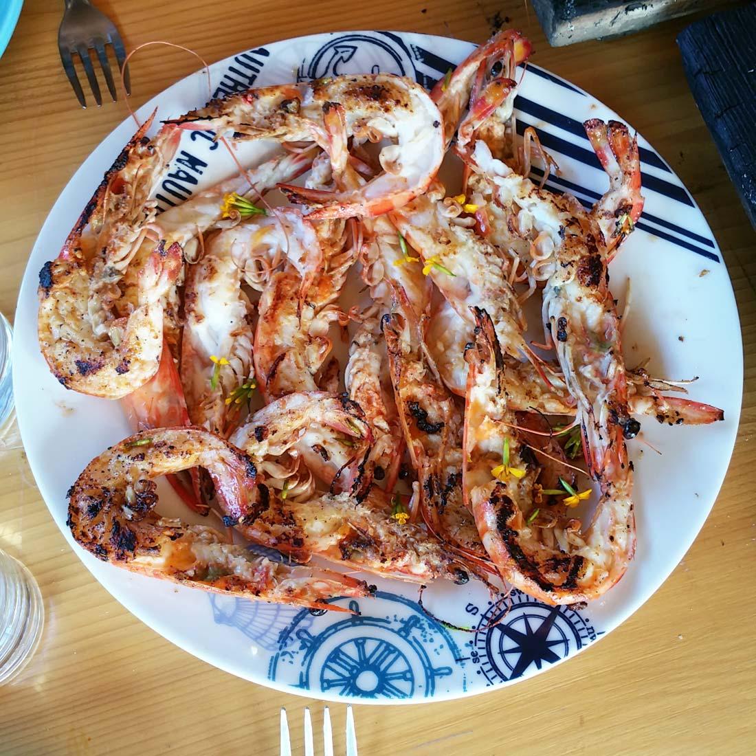 crevettes impériales et estragon mexicain