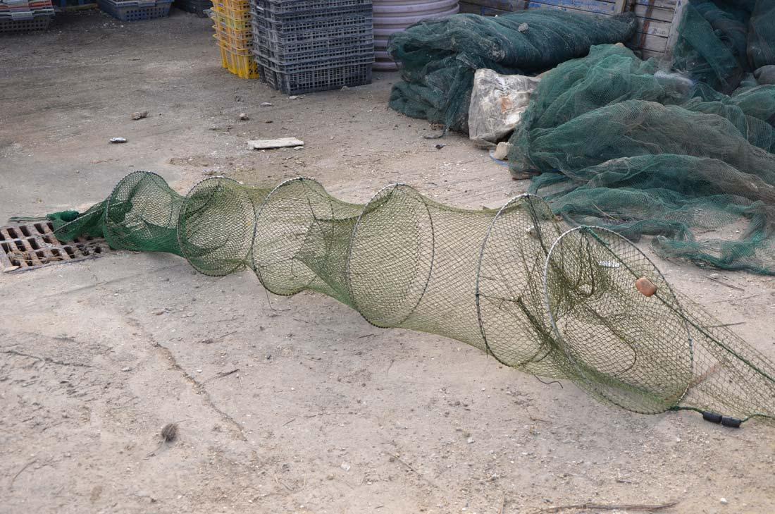 filet de pêche pour crevettes impériales