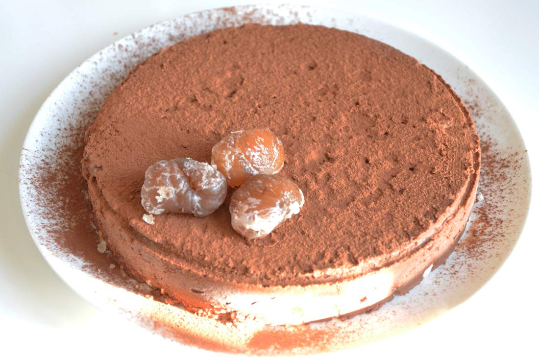 Parfait glacé marrons chocolat