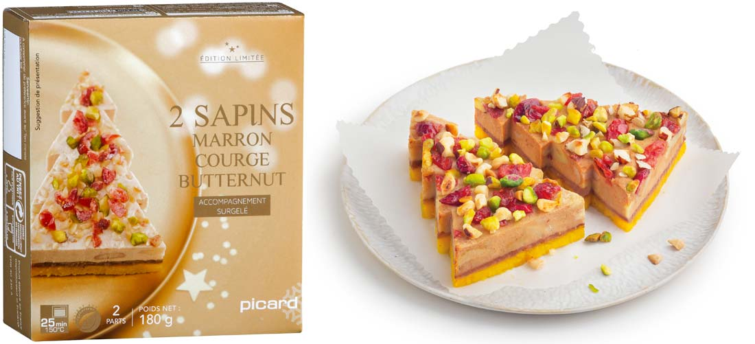 sapin marron courge butternut Picard