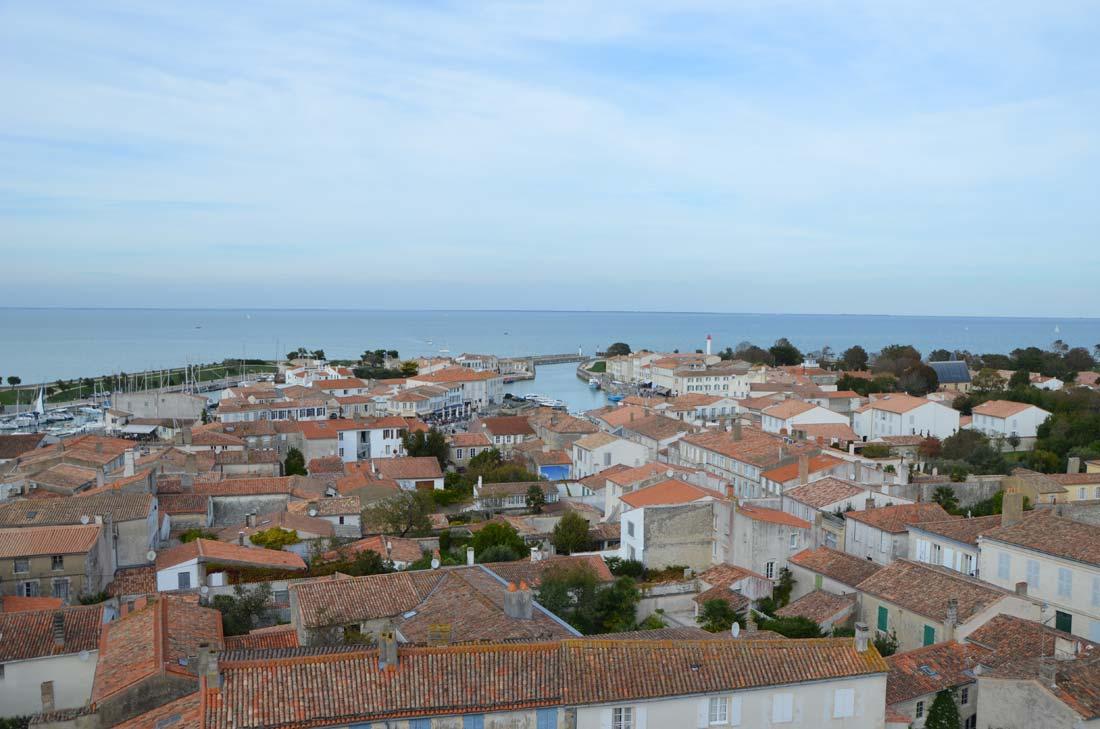 vue depuis le clocher de Saint-Martin en Ré