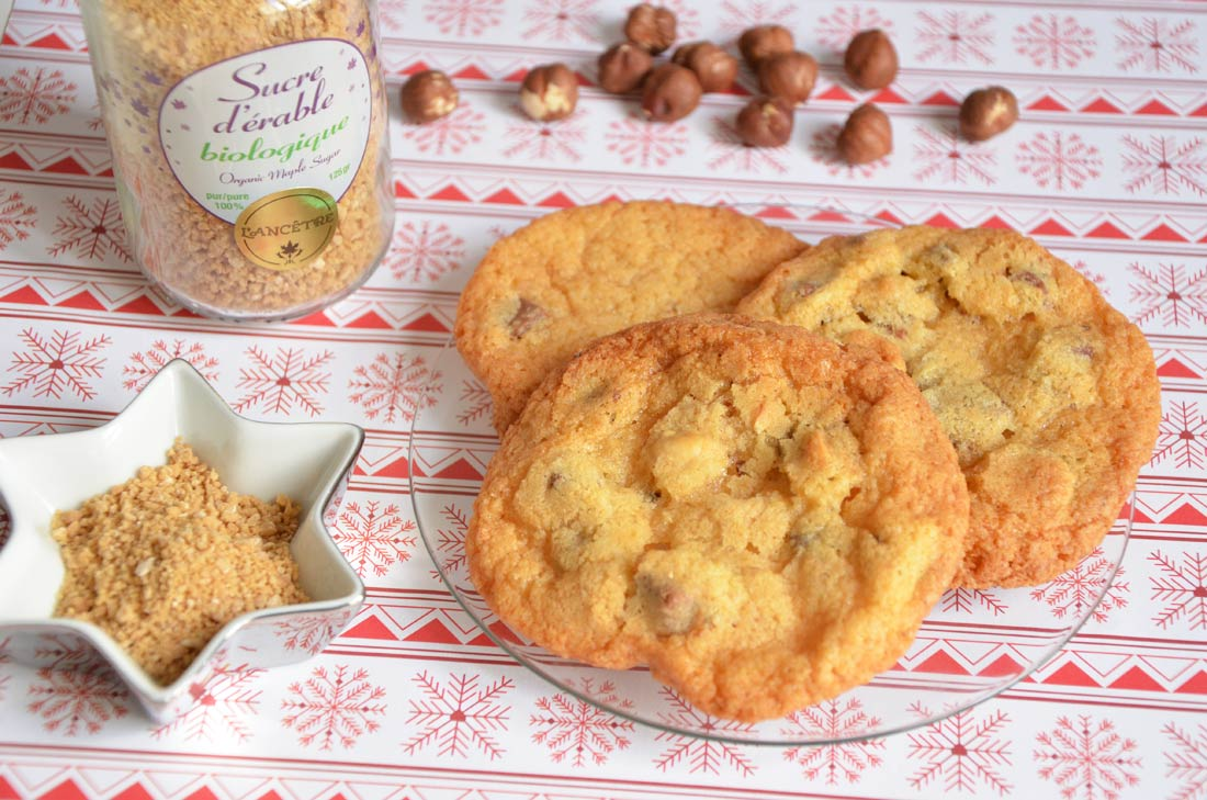 cookies sucre d 'érable noisettes