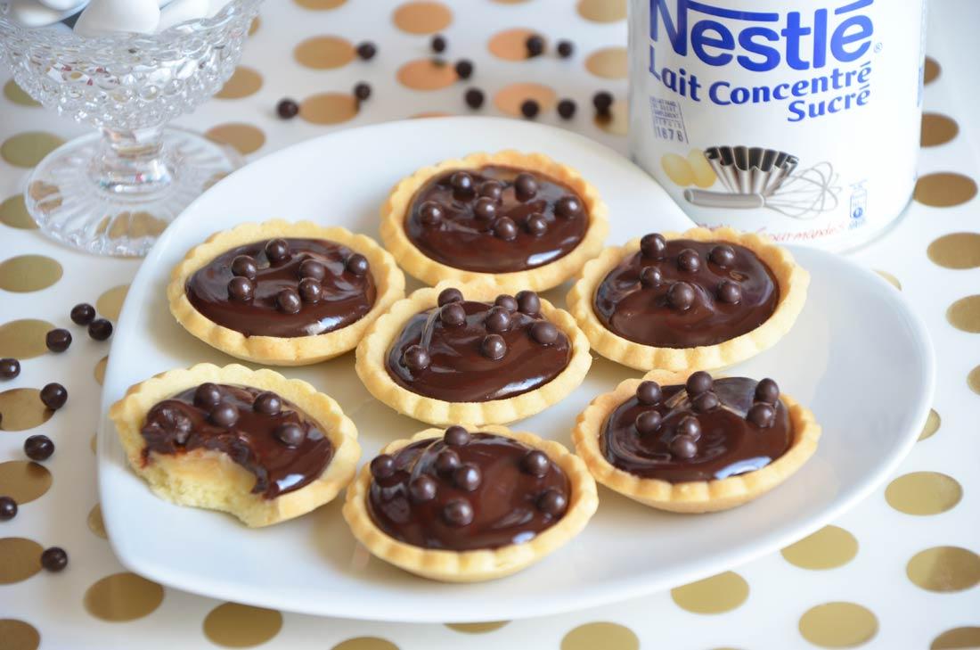 tartelettes chocolat caramel avec du lait concentré Nestlé