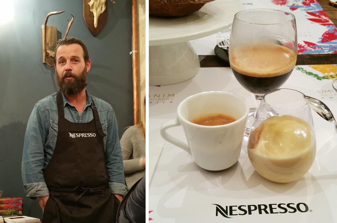 Nespresso interprété par le pâtissier Laurent Favre-Mot