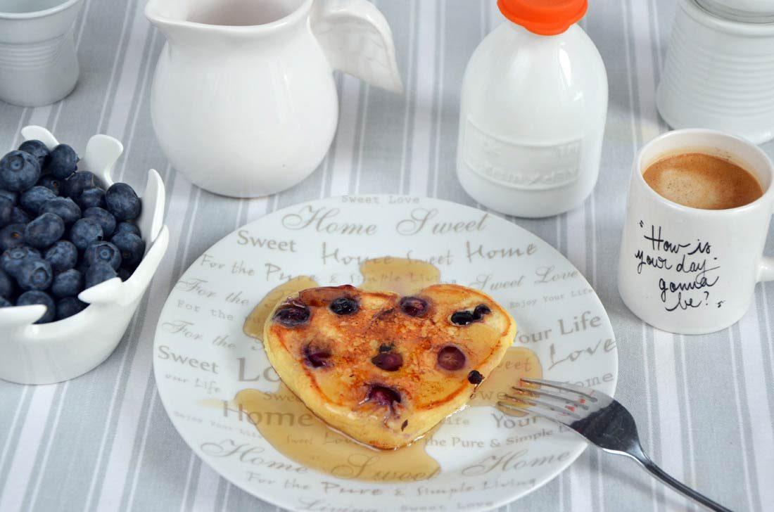 pancakes ricotta myrtilles