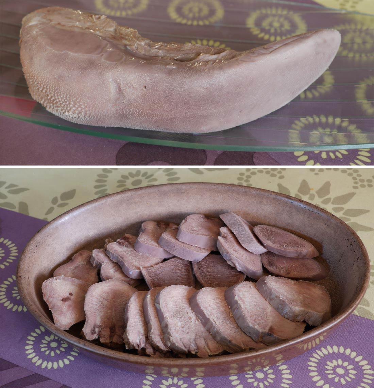 préparation recette de langue de boeuf
