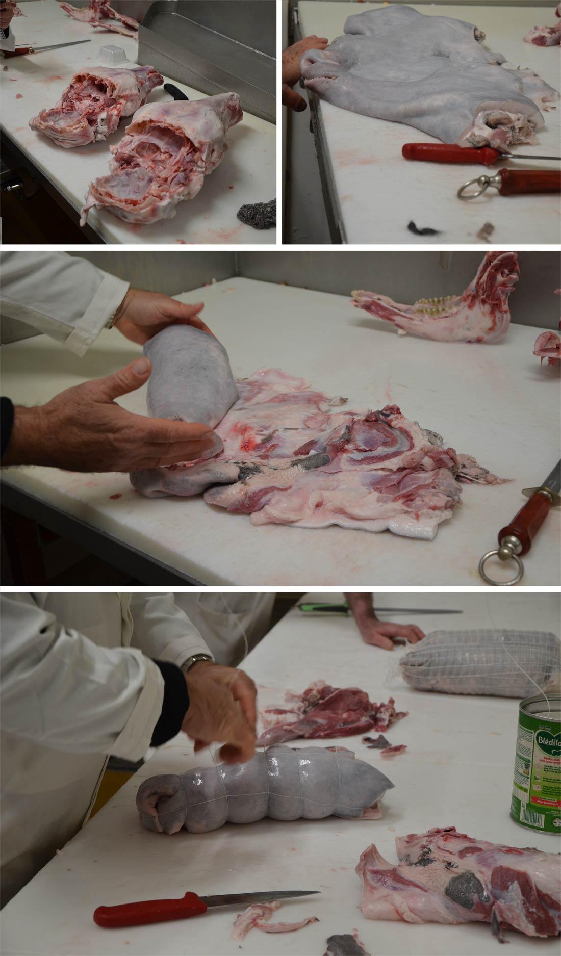 préparation tête de veau