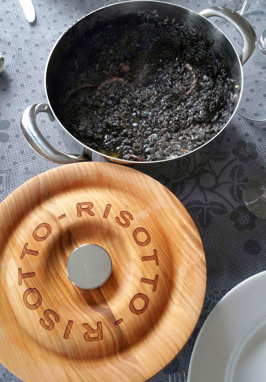 risotto encornets et encre de seiche