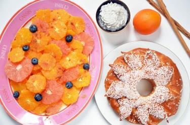 salade d'oranges à la cannelle et crème coco