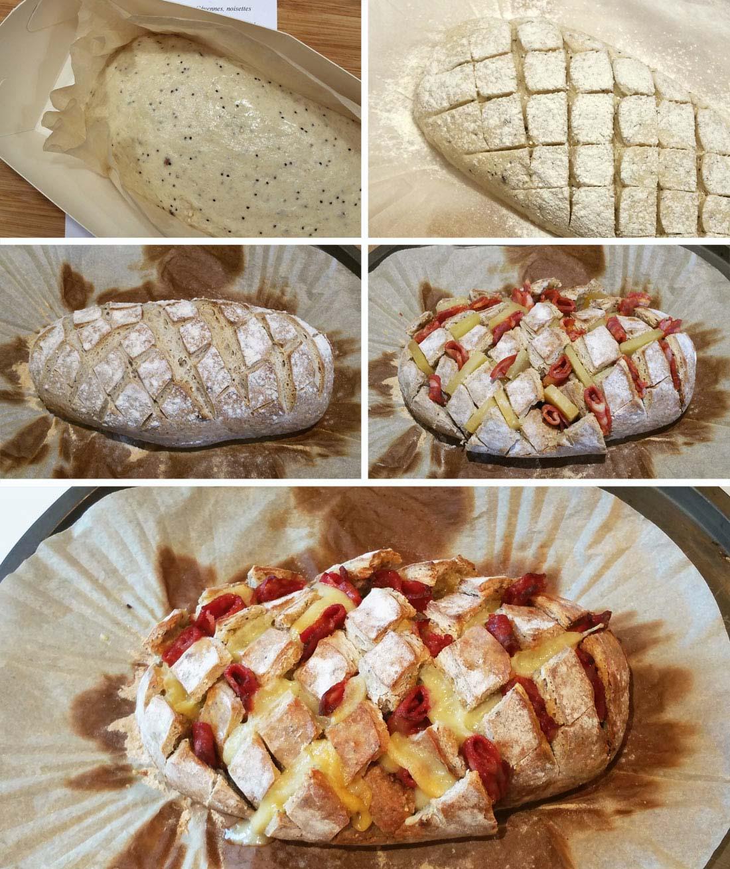 pas à pas pain hérisson chorizo comté