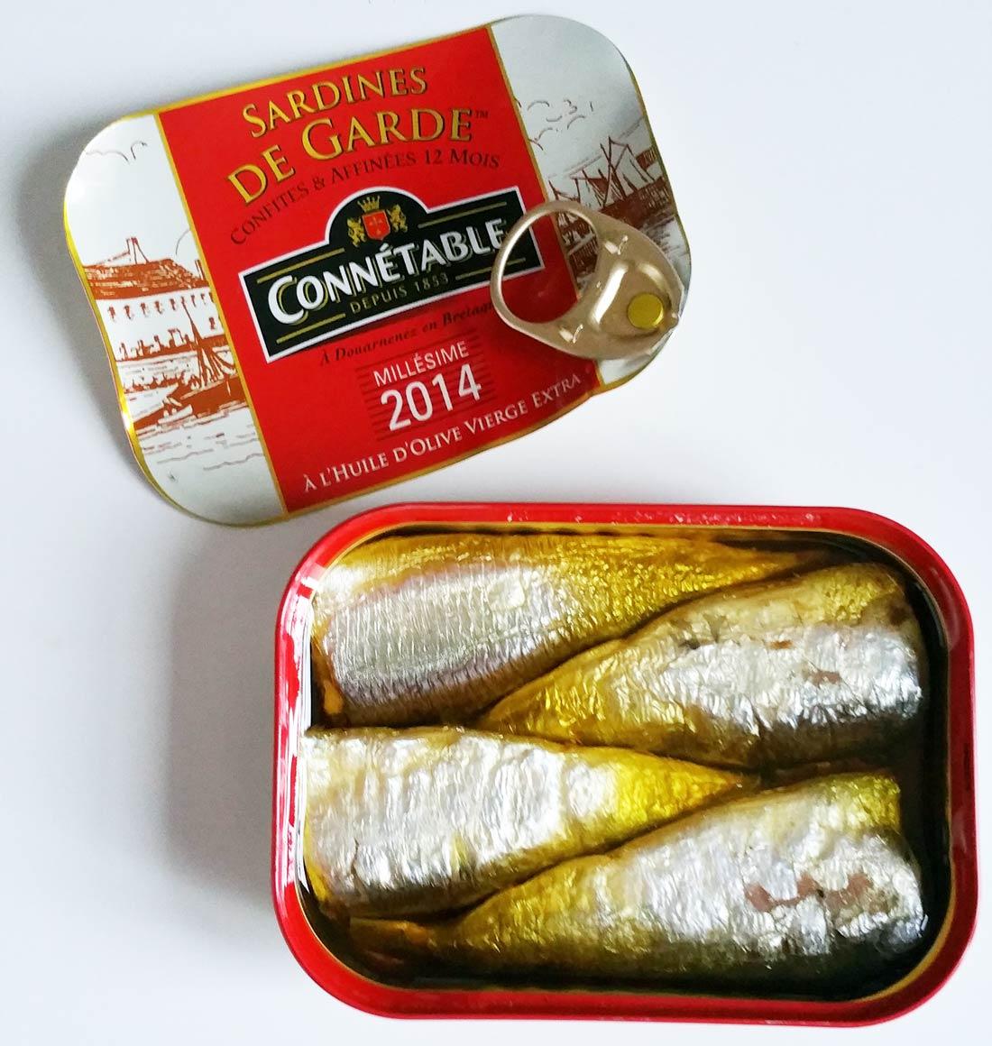 délicieux palets de polenta et sardines de garde