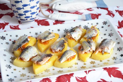 palets polenta et sardines de garde